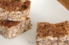 No-bake #oatmeal peanut butter energy bars for a quick #breakfast or energy boost  #recipe  #food