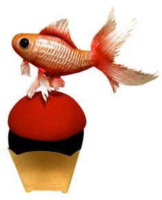 Tutorial Make Fondant Goldfish Lone Baker Journal #fooddecoration, #food, #cooking, https://facebook.com/apps/application.php?id=106186096099420