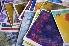"""the ART of GELLI prints"" online workshop"