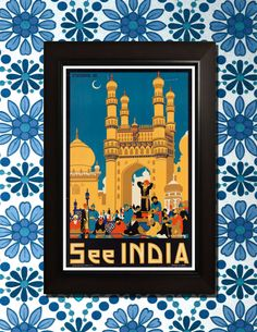 See India Travel Poster ___________________________________________________________________________    These are some of the Coolest Vintage