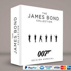 James Bond 007 (24 Películas) #ColeccionCompleta DVD · BluRay · Calidad garantizada. Pedidos: 0414.402.7582 Presentación #BoxSet exclusiva de RetroReto. → http://www.RetroReto.com/