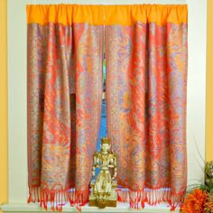 No Sew Boho Curtains  •  Free tutorial with pictures on how to make a curtain/blinds in under 60 minutes