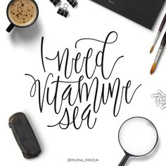 I need vitamine sea ☀️ #type #typo #typelove #typespire #typetopia #typoholic #typedesign #typematters #typeeverything #typeoftheday #typography #handdrawn #handwriting #handmadefont #handdrawntype #goodtype #loveletters #ilovetypography #customtype #calligram #calligraphy #picoftheday #instaart #thedailytype #dailytype #vector #modernscript #moderncalligraphy #instadaily #artoftype