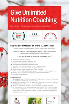 Give Unlimited Nutrition Coaching