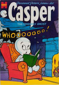 """sidekickclubhouse: """" Casper, The Friendly Ghost (March """" Old Comic Books, Best Comic Books, Vintage Comic Books, Comic Book Covers, Vintage Comics, Vintage Posters, Casper The Friendly Ghost, Old Movie Posters, Old Comics"""