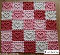 Heart Motifs Baby Blanket Crochet PAT...