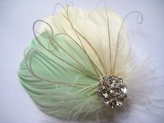 Mint Green Fascinator