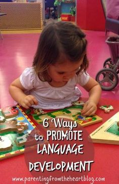 Learn how to promote language development in your toddler! These 6 ways to promote language development in your kid are so easy and fun! Your child will love learning and developing their language skills! Toddler Learning Activities, Speech Activities, Parenting Toddlers, Language Activities, Teaching Kids, Kids Learning, Educational Activities, Parenting Tips, Creative Activities