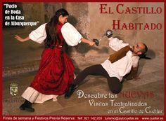 Visitas Teatralizadas en el Castillo de Cuéllar (Segovia). Información y Reservas:  turismo@aytocuellar.es   Telf. 921 14 22 03  www.cuellar.es