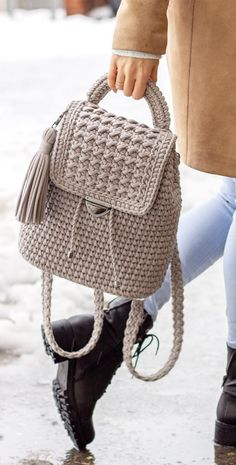 40 Free Crochet Bag Patterns and Hand Bags 2019 Page 33 of 39 2019 crochet patterns free; The post 40 Free Crochet Bag Patterns and Hand Bags 2019 Page 33 of 39 2019 appeared first on Knit Diy. Crochet Backpack Pattern, Free Crochet Bag, Bag Pattern Free, Crochet Poncho Patterns, Crochet Bags, Knitting Patterns, Knitting Ideas, Crochet Handbags, Crochet Purses