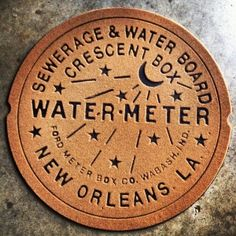 New Orleans Water Meter Doormat RUST @ nolah2no.com - $33
