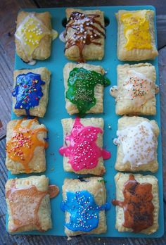Lighter Homemade Poptarts! 12 Flavors! I love poptarts so this will definitely be a must-try!