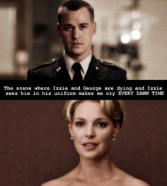 Grey's Anatomy.... EVERY DAMN TIME!! George was a hero, a soldier in his own right, and he deserved that uniform. God I miss George...