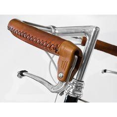 Elkhide Sewn-on City Bike Grips, Hand Cut - Handlebar Tape, Grips, Accessories - Accessories