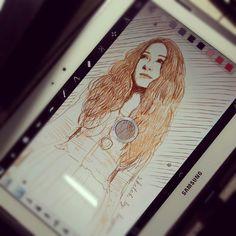 Sketch on Galaxy Note 10.1