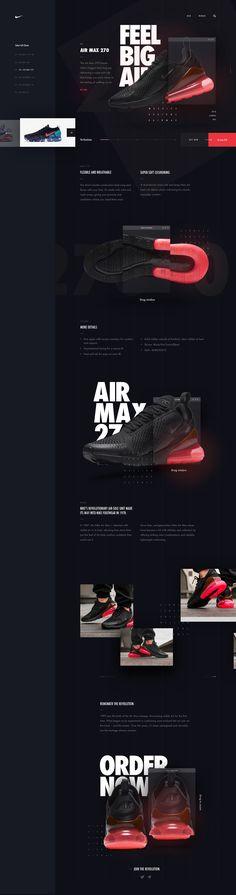 Nike Air Max web design