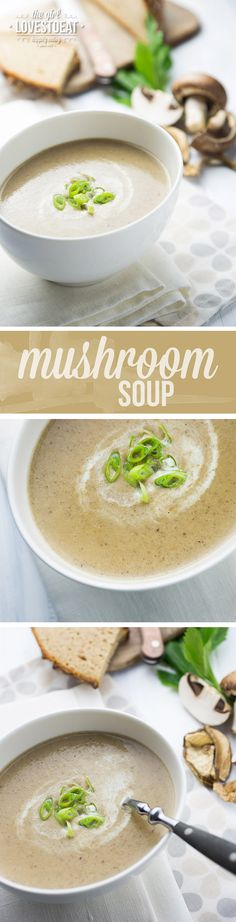Quick and easy creamy mushroom soup you will love with every bite. It looks simple but tastes amazing, thanks to its strong flavours. Healthy Soup Recipes, Chili Recipes, Cooking Recipes, Creamy Mushroom Soup, Pasta, Foodblogger, Soup And Salad, Soups And Stews, Vegan