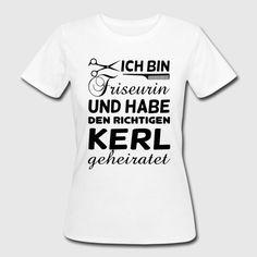 Cooles Design für alle Friseurinnen! - Frauen Bio-T-Shirt