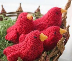 https://www.etsy.com/treasury/MTczMjYxOTB8MjcyMzA0MDc2Nw/red-for-valentines?index=3&atr_uid= Two Red Cardinal  Bird Toys Valentine Gift Knit Red by beadedwire, $22.00