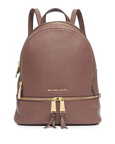 Rhea Small Zip Backpack, Dusty Rose - MICHAEL Michael Kors