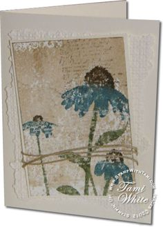 Inspired by Nature - Distress Essentials Kit Stampin' Up. Video by Tami White.