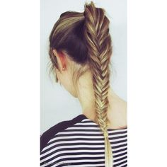 25 Super-Easy Everyday Hairstyles for Extremely Long Hair ❤ liked on Polyvore
