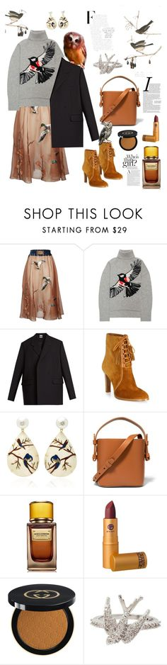 """Birds"" by waltos ❤ liked on Polyvore featuring Stella Jean, Markus Lupfer, Vetements, Michael Kors, Silvia Furmanovich, Nico Giani, D&G, Lipstick Queen, Gucci and Betsey Johnson"