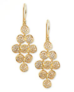 Enjoy starlight in daylight with these Ippolita Stardust earrings, which frame your face with pave diamonds set in cascading floral shapes.