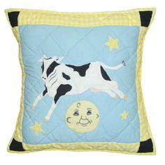 Hey Diddle Diddle Cotton Throw Pillow