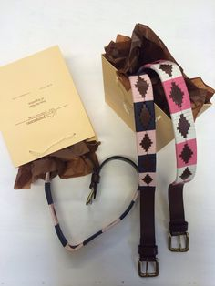 Must be that time of year.. pampeano luxury argentine leather polo belts - our pinks, hermoso and bonita