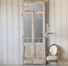 Mirrored Doors Distressed