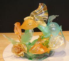 Blown Sugar Sculptures | Sugar Sculpture - Goldfish Underwater Scene - Delicate Delights by ...