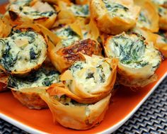 Cookies Kitchens: Spanakopita Bites! Spinach Dip in Phyllo Cups!
