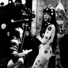 Japanese conceptual artist Yayoi Kusama is a self-described obsessive. E arly in Kusama's career, she began covering surfaces which inlcude. Georges Pompidou, Pompidou Paris, Yayoi Kusama, Psychedelic Colors, Pop Art Movement, Feminist Art, Japanese Artists, Illustrations, Conceptual Art