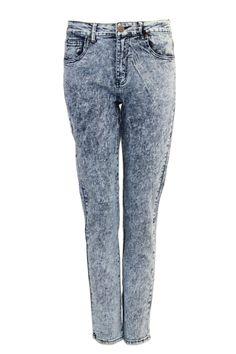 Plus Size Basic Acid Wash Skinny Jeans