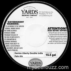 mybeerbuzz.com - Bringing Good Beers & Good People Together...: Yards - Dantes Liberty Double IPA