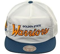 Mitchell and Ness NZK11 Golden State Warriors Zipback Hat - White d9f9aeda575