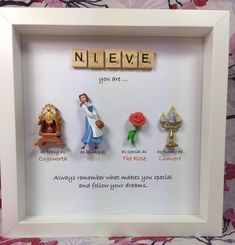 Disney Beauty and the Beast Frame- perfect mum, sister- daughter-friend- nana- flower girl gift. Beauty & the beast gift - mother's day gift - Beauty Beauty And The Beast Crafts, Disney Beauty And The Beast, Beauty And The Beast Bedroom, Homemade Gifts, Diy Gifts, Cadeau Disney, Disney Diy Crafts, Disney Princess Crafts, Disney Crafts For Adults