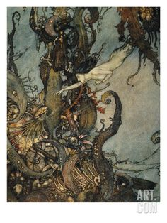 "Andersen: Little Mermaid Art Print by Edmund Dulac at Art.com (Size: 24"" x 32"")"