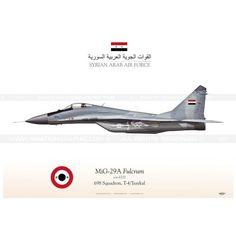"MIG-29 ""Fulcrum"" SYRIA القوات الجوية العربية السورية TC-166 Reference:  TC-166 Condition:  New product  SYRIAN ARAB AIR FORCE . القوات الجوية العربية السورية  698 Squadron, T-4/Tsaykal"