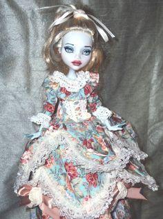 Lydia - OOAK custom repaint Monster High doll Lagoona Blue