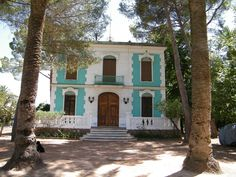 The fascia colour of this house, Navajas, Spain. Love. That plus the mini balcony.     Photo by my friend Georgina.