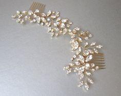 Swarovski crystal bridal hair vine Bridal hair от SabinaKWdesign