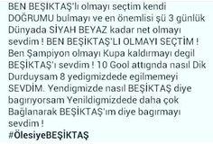 Beşiktaş şereftir takım olmayı bilmektir