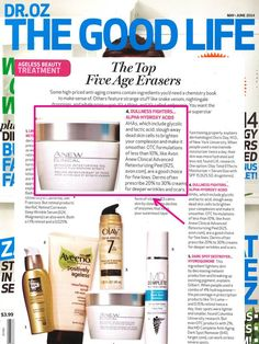 @Dr. Mehmet Oz The Good Life Magazine features #ANEW Clinical Advanced Retexturizing Peel as one of the top 5 anti-aging products! #ANEWyou