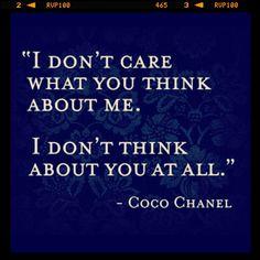 Coco said it best