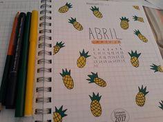 #BulletJournal #Pineapple #April #Notebook Instagram-> @krys_andrea8