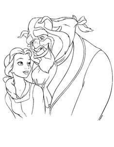 belle and the beast colouring pictures