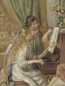 Pierre-Auguste Renoir - Girls at the Piano. Professional Artist is the foremost business magazine for visual artists. Visit ProfessionalArtistMag.com.- www.professionalartistmag.com