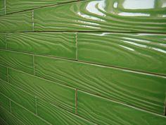 """""""wood grain"""" ceramic tile ...in green"""
